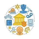 Concepto de la ley y de la justicia stock de ilustración