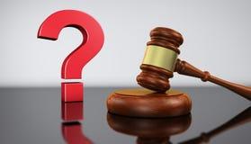 Concepto de la ley y de las preguntas legales Fotos de archivo libres de regalías