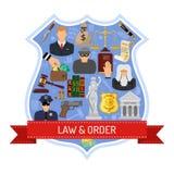 Concepto de la ley y orden Imagen de archivo