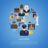 Concepto de la ley y orden Imágenes de archivo libres de regalías