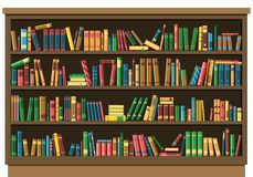 Concepto de la librería de la biblioteca de la educación ilustración del vector