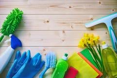 Concepto de la limpieza housecleaning fotografía de archivo libre de regalías