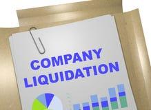 Concepto de la liquidación de la compañía ilustración del vector