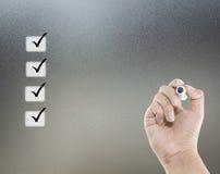 Concepto de la lista de verificación Imagen de archivo