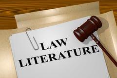 Concepto de la literatura de la ley ilustración del vector
