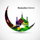Concepto de la luna de la tarjeta del kareem del Ramadán