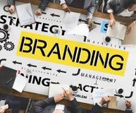 Concepto de la marca registrada del perfil de márketing de la etiqueta de marcado en caliente de la marca imágenes de archivo libres de regalías