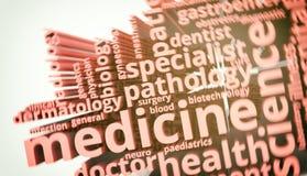 Concepto de la medicina Fotografía de archivo
