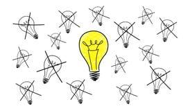Concepto de la mejor idea ilustración del vector