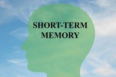Concepto de la memoria a corto plazo stock de ilustración