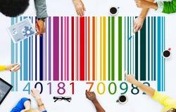 Concepto de la mercancía del precio del código de barras Fotos de archivo libres de regalías