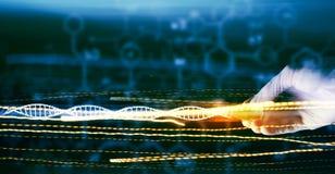 Concepto de la microbiología Imagen de archivo libre de regalías