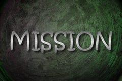 Concepto de la misión Imagenes de archivo