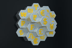 concepto de la moneda 3D Imagen de archivo libre de regalías