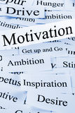Concepto de la motivación Imagen de archivo