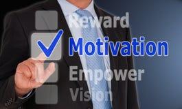 Concepto de la motivación fotos de archivo