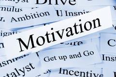 Concepto de la motivación Fotografía de archivo