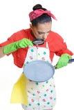 Concepto de la muchacha y de la cocina Fotos de archivo