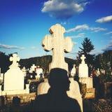 Concepto de la muerte del cementerio Imágenes de archivo libres de regalías