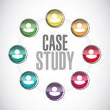 concepto de la muestra de la comunidad del estudio de caso libre illustration