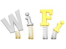 Concepto de la muestra de Wi-Fi Imágenes de archivo libres de regalías