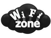 Concepto de la muestra de Wi-Fi Foto de archivo libre de regalías