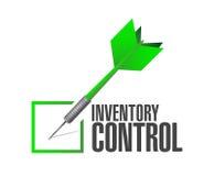 concepto de la muestra del dardo del control del control de inventario Fotografía de archivo