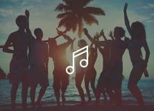 Concepto de la muestra del icono de Melody Music Sound Key Artistic Imagen de archivo libre de regalías