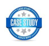 concepto de la muestra del sello del estudio de caso ilustración del vector