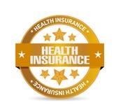 Concepto de la muestra del sello del seguro médico Imagen de archivo