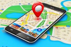 Concepto de la navegación GPS stock de ilustración