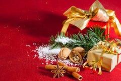 Concepto de la Navidad, aún vida Foto de archivo