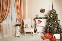 Concepto de la Navidad, de los días de fiesta, del hogar, del invierno y aún de la vida Fotografía de archivo libre de regalías