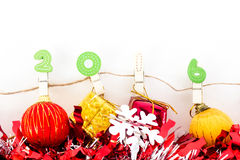 Concepto de la Navidad, fondo abstracto por Feliz Año Nuevo 2016 Foto de archivo libre de regalías