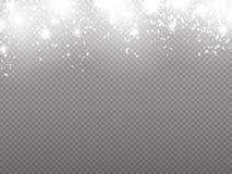 Concepto de la Navidad Movimiento propio de las partículas del brillo del vector libre illustration