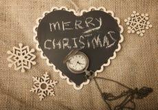 Concepto de la Navidad retra y del Año Nuevo Foto de archivo libre de regalías