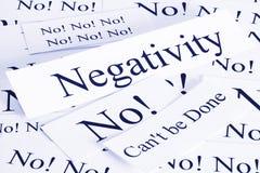 Concepto de la negatividad imagen de archivo libre de regalías