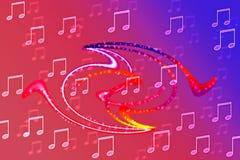 Concepto de la nota musical Imagenes de archivo