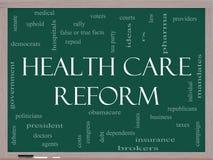 Concepto de la nube de la palabra de la reforma del cuidado médico Imagen de archivo libre de regalías