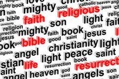 Concepto de la nube de la palabra de la religión Fotografía de archivo libre de regalías