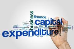 Concepto de la nube de la palabra de los gastos en inversión de capital en fondo gris libre illustration