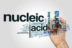 Concepto de la nube de la palabra del ácido nucléico imagen de archivo libre de regalías