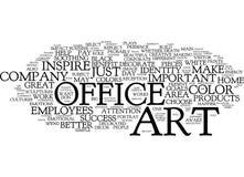 Concepto de la nube de la palabra de Art For The Successful Office Foto de archivo libre de regalías