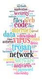 Concepto de la nube de la palabra del virus Fotografía de archivo