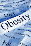 Concepto de la obesidad Foto de archivo