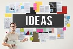 Concepto de la oferta de Vision de los pensamientos de la acción de las ideas frescas Foto de archivo libre de regalías