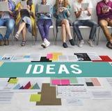 Concepto de la oferta de Vision de los pensamientos de la acción de las ideas frescas Fotos de archivo libres de regalías