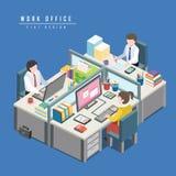 concepto de la oficina del trabajo Foto de archivo