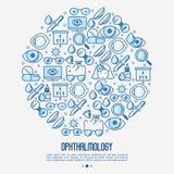 Concepto de la oftalmología en círculo libre illustration