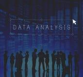 Concepto de la operación informativa de Digitaces del análisis de datos Foto de archivo